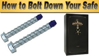 How to Bolt Down Your Safe