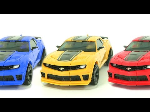 Transformers Bumblebee Color Compose StopMotion Robot Car Toys 트랜스포머 범블비 스톱모션 컬러합성 자동차 장난감 변신 동영상