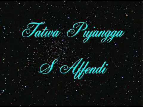 S Affendi - Fatwa Pujangga video