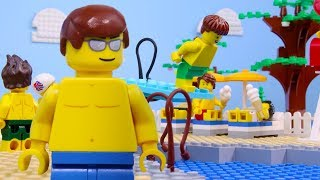 LEGO City Swimming Pool Fail STOP MOTION LEGO Swimming Diving Board Fail | LEGO City | Billy Bricks