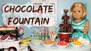 DIY American Girl Doll Chocolate Fountain