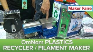 OmNom Recycles 3D Printer Mistakes Into Fresh Plastic! Maker Faire 2013