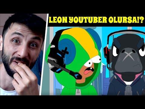 LEON YOUTUBER Olup CROW 'a DİSS Attı! Brawl Stars Animasyon 300 IQ