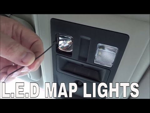 How To Install LED Map Lights- 2014 Ram & Yorkim T10 LED Bulb Review!