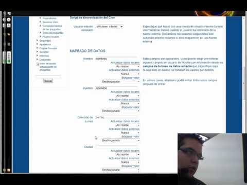 tutorial Moodle 2.0 y 2.1  autenticación  base de datos  externa