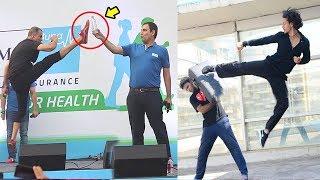 Akshay Kumar Vs Tiger Shroff Karate STUNTS In Public - Who Is Better