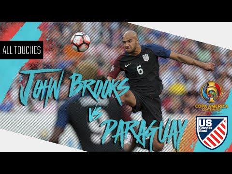 John Brooks vs Paraguay ● All Touches ● US Soccer Soul | HD