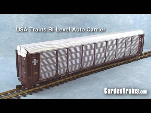 Garden Trains: UnBoxing - USA Trains Bi-Level Auto Carrier : Large Scale Garden Railroad