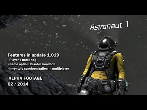 Space Engineers - Player's name tag, Disable headbob, Synchronization of inventory in Multiplayer