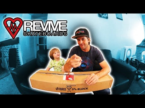 Father Son ReVive Skateboards Unboxing!!!