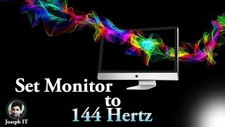 How to change Refresh Rate of Monitor 60hz to 144hz in Windows 10