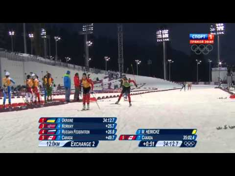 Биатлон. Эстафета женщины Олимпиада, Сочи 21.02.2014