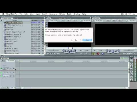 Final Cut Pro 7 Ch 4  New Sequence Setup, Importing Clips & Timeline Options