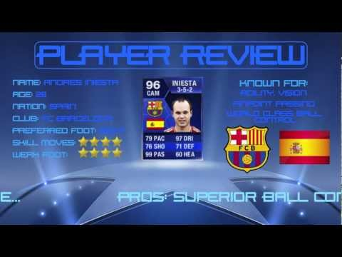 96 TOTY INIESTA - Player Review - FIFA 13 Ultimate Team