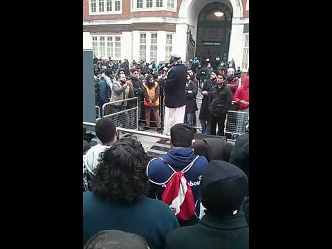 Sh.Haitham Haddad at the Moazzam Begg protest