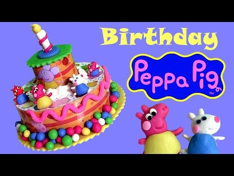 Play Doh Peppa's Birthday Cake Dough Playset from Nickelodeon Peppa Pig toys