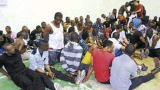 These Nigerians were arrested by Malaysian authorities awaiting deportation