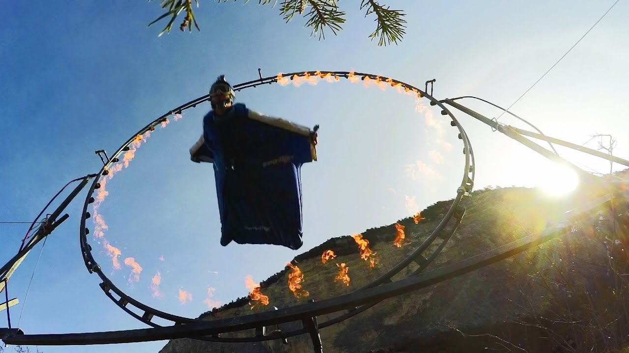 If You're Going to Fly a Wingsuit, May as Well Fly Through Fire