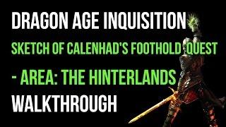 Dragon Age Inquisition Walkthrough Sketch of Calenhad