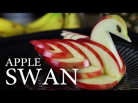 How To Make An Edible Apple Swan! video