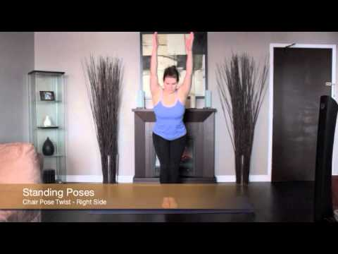 Yoga Chair Pose Twist Left and Right
