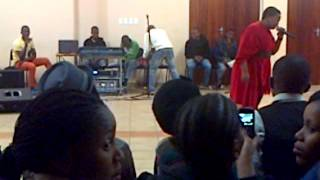 Ms Mpho Tlhong perfoming @ the Jam in Crr Lekunutung le Morena