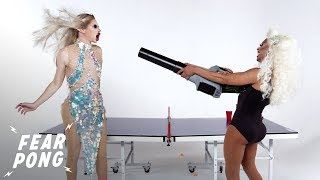 Drag Queens Play Fear Pong (Irene Dubois & Kaleena)   Fear Pong   Cut