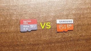 SanDisk Ultra vs Samsung EVO Plus   MicroSD Card Speed Test