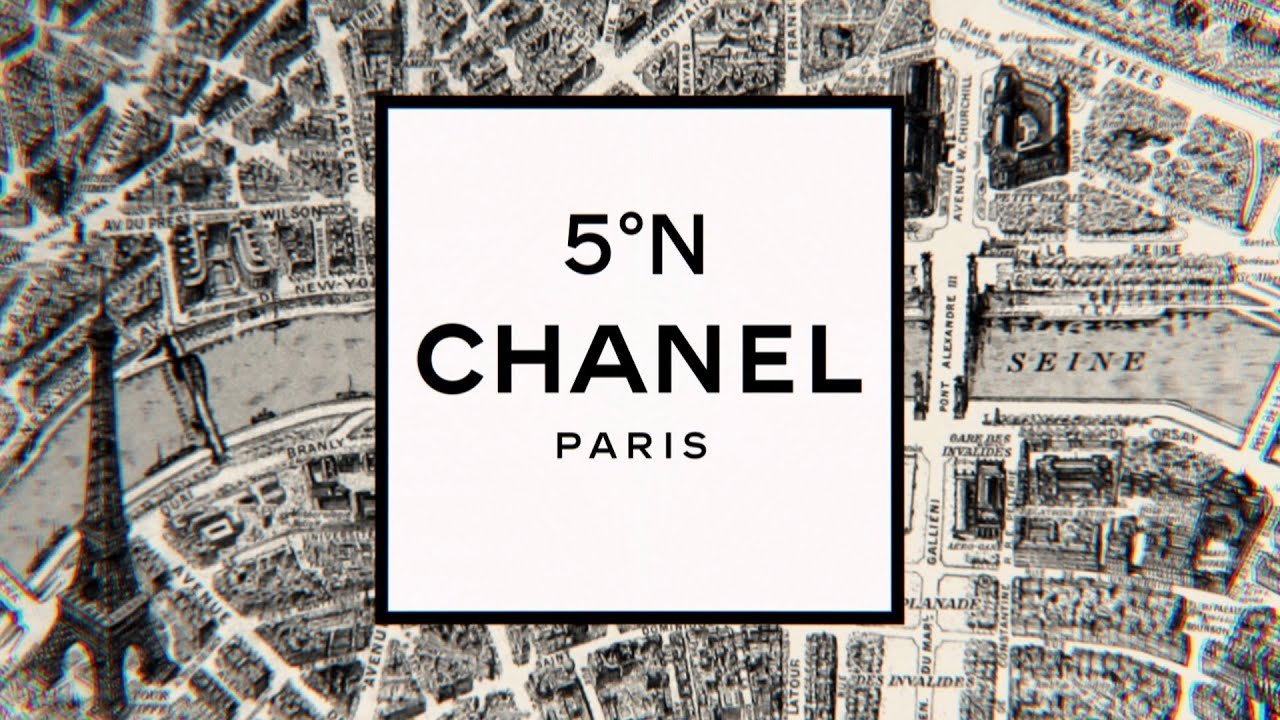chanel logo wallpaper black