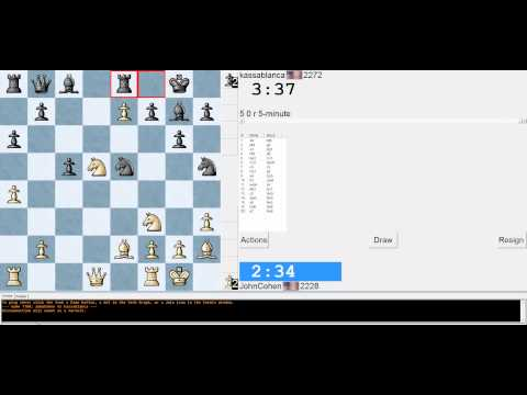 Chess Blitz Game in London System