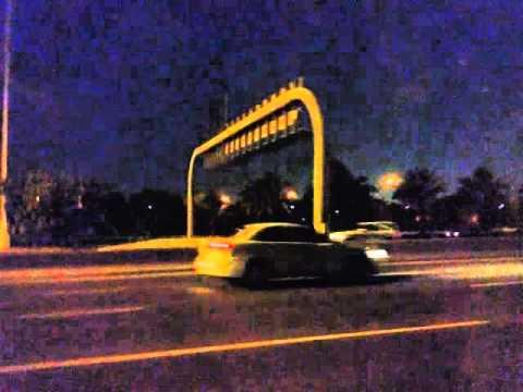 Qatar 2022 doha night view new airport road