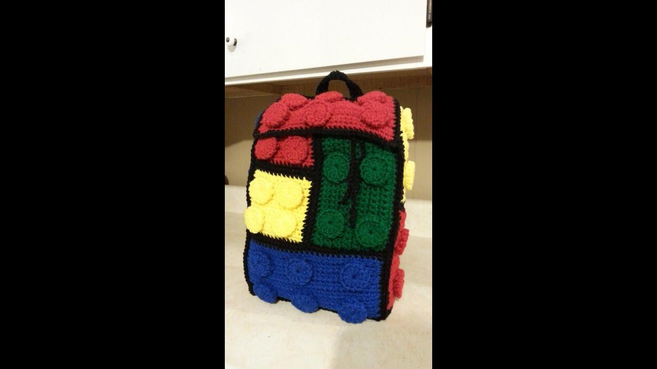 Crochet Lego Backpack Bag