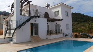 3 BED VILLA WITH STUNNING SEA & MOUNTAIN VIEWS, £ 90,000. KARSIYAKA CYPRUS HP1148 K