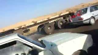 تصادف موتور سنگین در شیراز اشكنان دوربين تصادف خطرناك car cerash