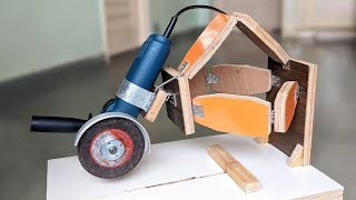 How to Make an Angle Grinder Sliding Saw at Home