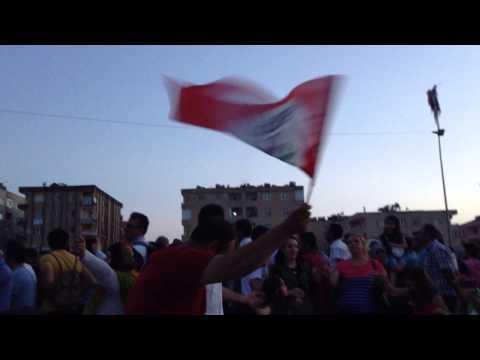 Post election celebration. Mardin. Turkey