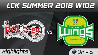 KT vs JAG Highlights Game 1 LCK Summer 2018 KT Rolster vs Jin Air GreenWings by Onivia
