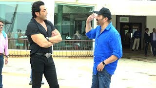 Sunny deol with bobby deol promoting yamla pagla deewana fir se