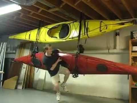 Handy Hooker Canoe and Kayak Storage Hoist & Load Lock Stabilized Hull Cradle Systems.