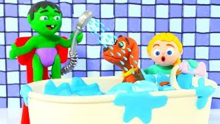 SUPERHERO BABIES BATH THE LITTLE DOG ❤ Superhero Babies & Princesses Cartoons For Kids