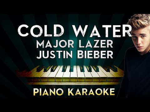 Major Lazer - Cold Water (ft.Justin Bieber & MØ)   Piano Karaoke Instrumental Lyrics Cover Sing
