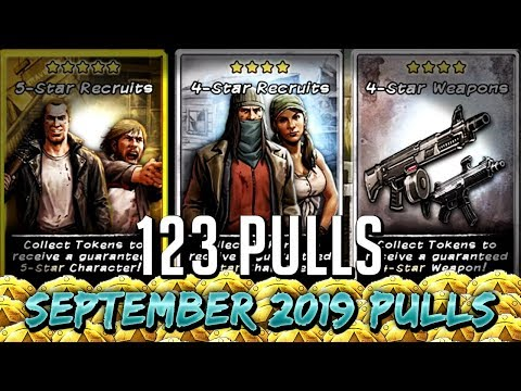 TWD RTS: 123 Pulls, September 2019 Token Pulls - TWD: Road to Survival