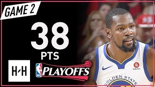 Kevin Durant Full Game 2 Highlights Warriors vs Rockets 2018 NBA Playoffs WCF - 38 Pts!