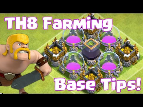 Clash Of Clans Townhall 8 Farming Base Defense Tips And Tricks   TH8 Farming Base Layout