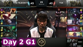 SK Telecom T1 vs TSM | Day 2 LoL MSI 2017 Group Stage | SKT vs TSM Mid Season Invitational