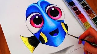 BABY DORY Drawing 🐟  FINDING DORY