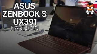 ASUS ZenBook S UX391 Hands On at Computex 2018