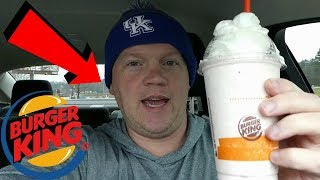 Burger King Oreo Cookie Peppermint Shake (Reed Reviews)