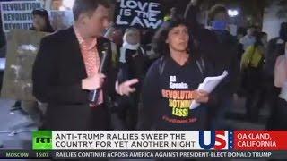 'Not My President!' Tear gas, flash grenades, arrests mark anti-Trump rallies across US