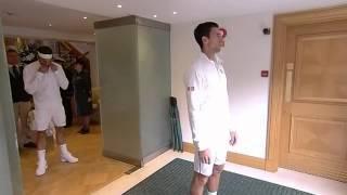 Djokovic & Federer out on Centre Court - Wimbledon 2014